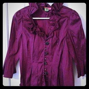Tops - Purple ruffle jacket